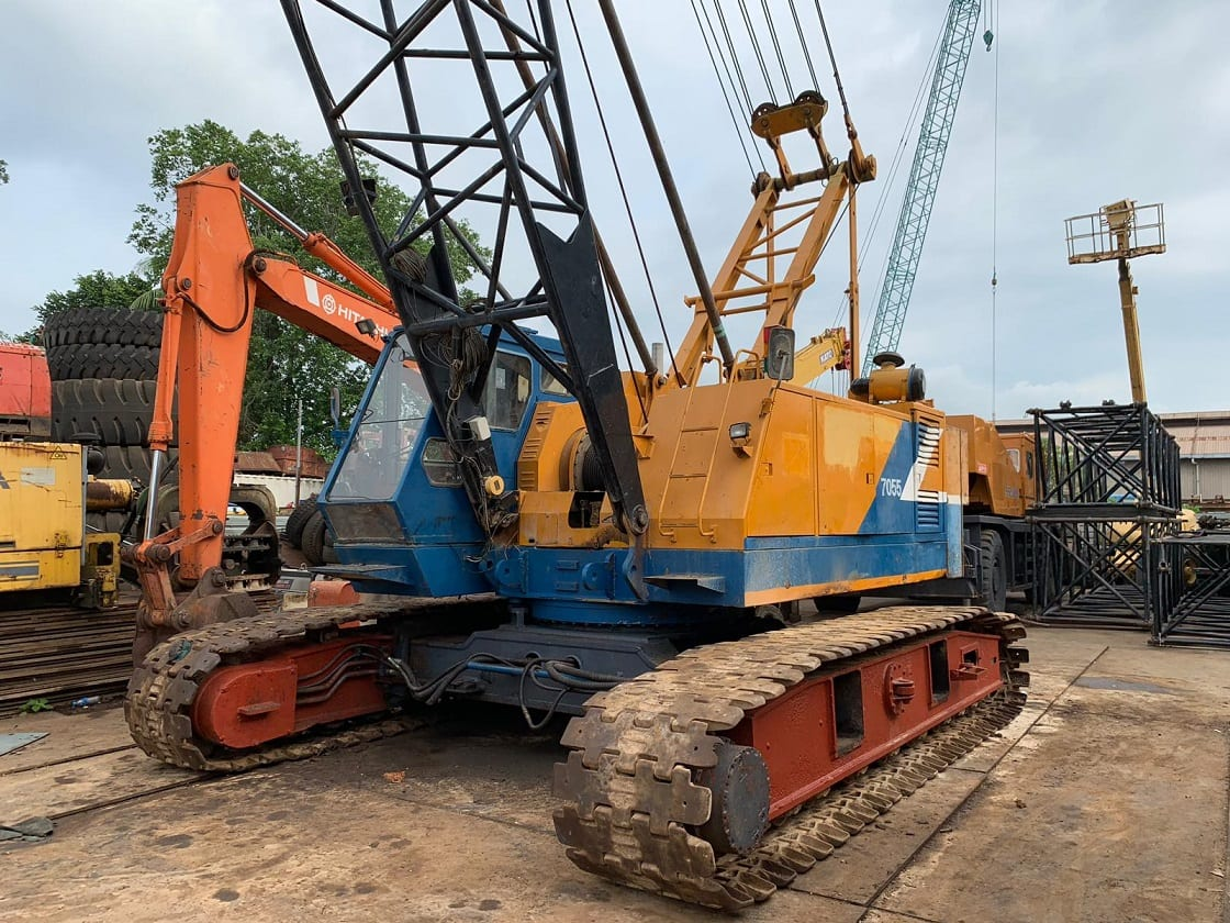 KOBELCO 7055 Crawler Crane, Boom: 90ft - Singapore Used